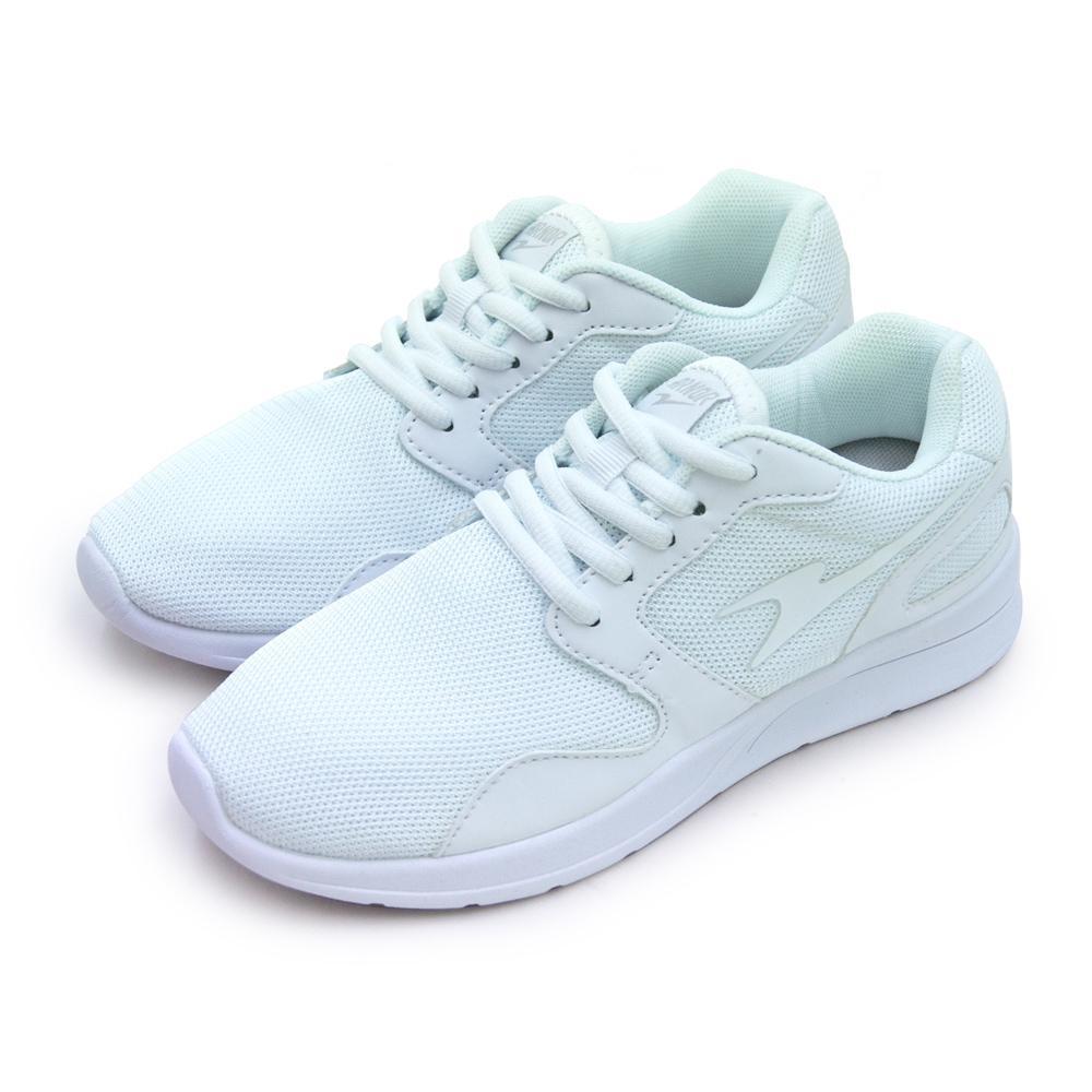 ARNOR 超輕量訓練跑鞋 極度Q彈系列 白色學生鞋 白 82259