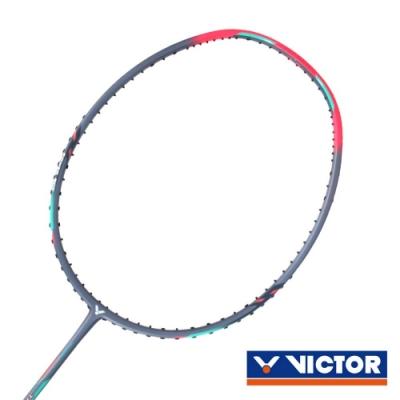 VICTOR 突擊球拍-5U 螢光粉綠灰