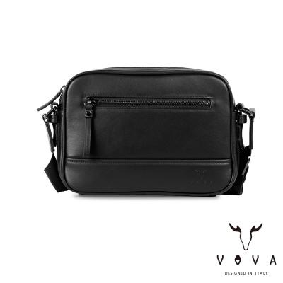 VOVA 公爵系列職人單層斜背包-貴族黑