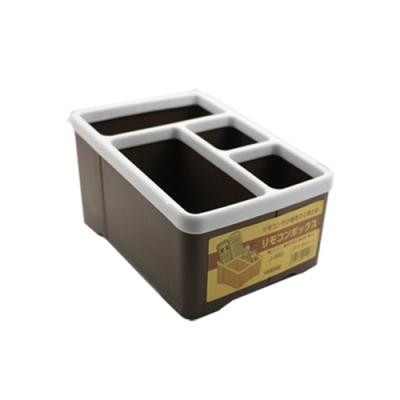 【KM生活】多用途遙控器收納盒/桌面整理盒/筆筒(顏色隨機)