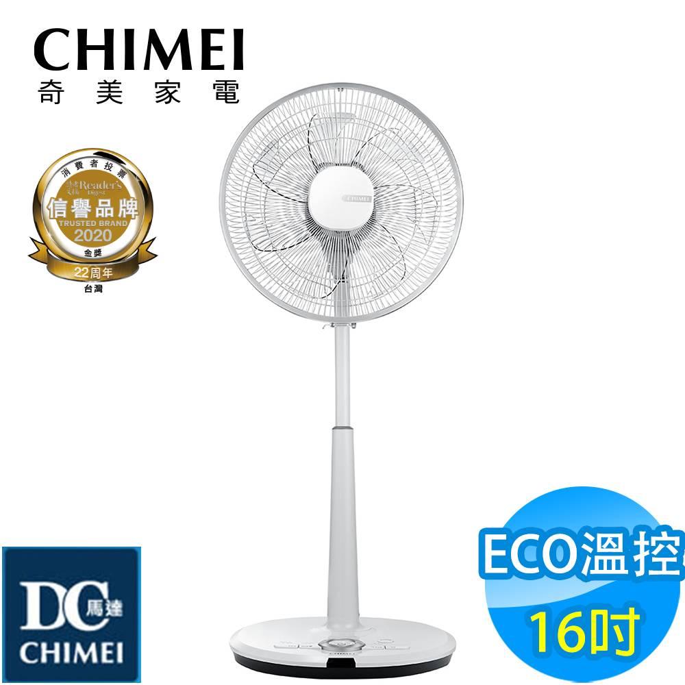 CHIMEI奇美 16吋 7段速微電腦遙控ECO溫控DC直流電風扇 DF-16D600