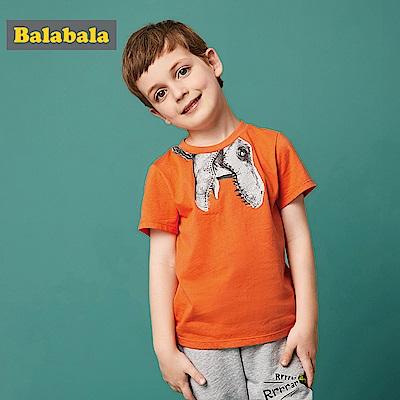 Balabala巴拉巴拉-恐龍吼吼圖案印花短袖T恤-男(1色)