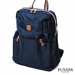 FUNNNY 日本同步後背包系列 輕量尼龍機能後背包 藍