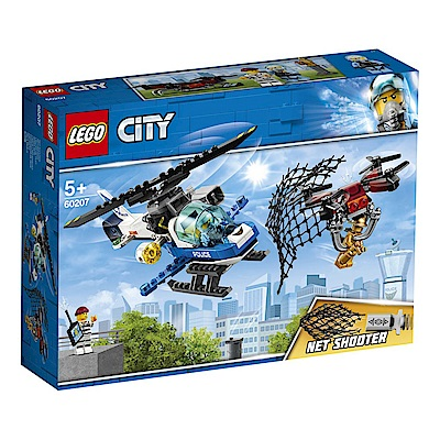 【LEGO樂高】城市系列 60207 航警無人機追擊