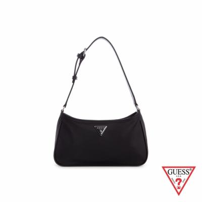 GUESS-女包-氣質簡約純色輕便單肩包-黑 原價2290