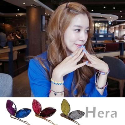 Hera赫拉-立體絲紋雙色蝴蝶結邊夾/髮夾/一字夾(2入隨機)