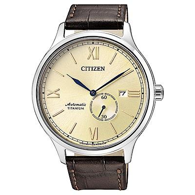 CITIZEN 星辰錶 GENT S限量機械皮帶腕錶-NJ0090-13P