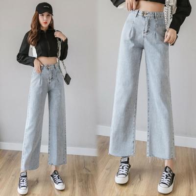 【韓國K.W.】(預購)明星同款柔美愛戀牛仔褲-1色