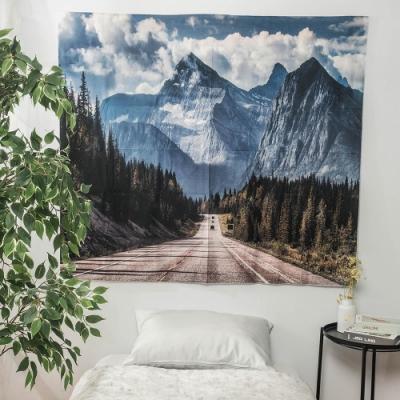 樂嫚妮 裝飾掛毯/掛布/門簾/桌巾-雪山公路 150X130cm