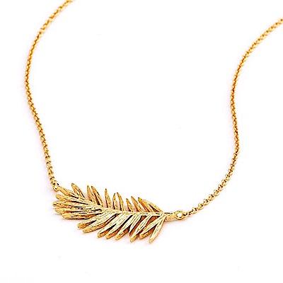 GORJANA 美國品牌 立體剪影 加州棕櫚樹項鍊 金色 Palm Adjustable