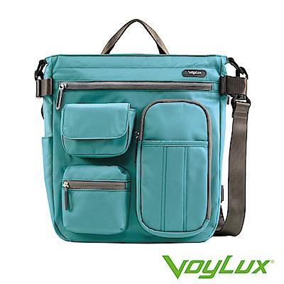 VoyLux伯勒仕-專櫃精品-輕時尚-防潑水三用輕巧包3681218A孔雀藍