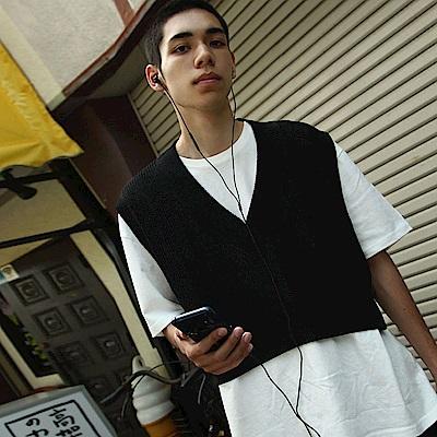 針織背心寬版素色(3色) ZIP日本男裝