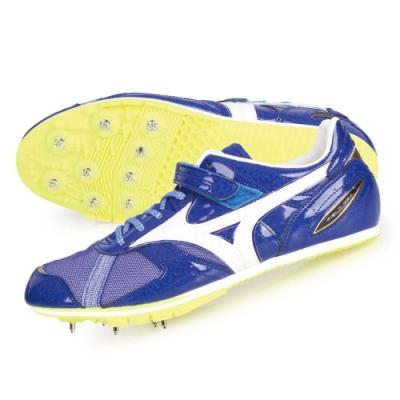 MIZUNO FIELD GEO LJ-B-日製男女田徑釘鞋-跳遠 U1GA194001 藍白金