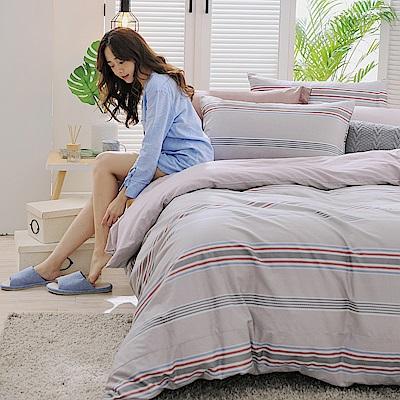 GOODDAY-回憶-100%純棉-兩用被床包組(雙人)