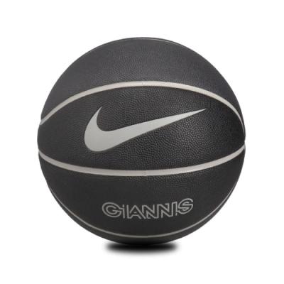 Nike 籃球 Giannis All Court 7號球 標準球 字母哥 室內外 耐磨像膠 水泥地 黑 灰 N100173502107