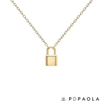 PD PAOLA 西班牙輕奢時尚品牌 Bond 簡約鎖扣鍍18K金項鍊