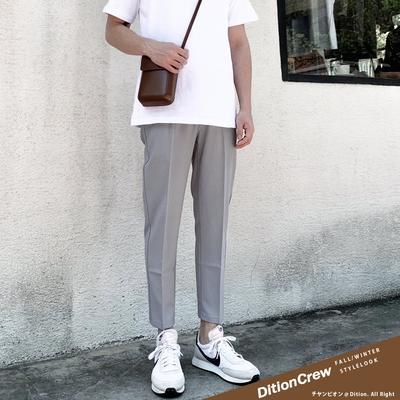 DITION 無印SKINNY九分合身西裝長褲 質感素色正裝 正式 修身 鉛筆褲