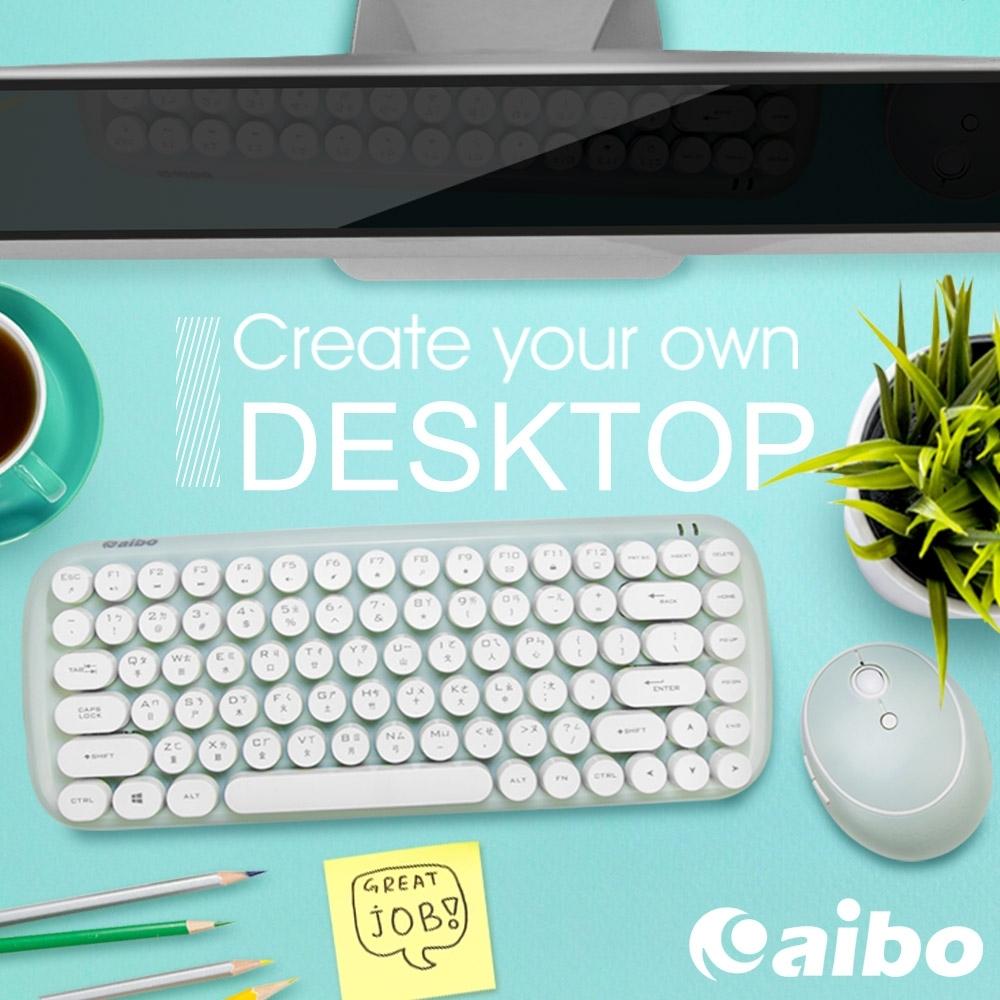 aibo KM12 棉花糖打字機 2.4G無線鍵盤滑鼠組 product image 1
