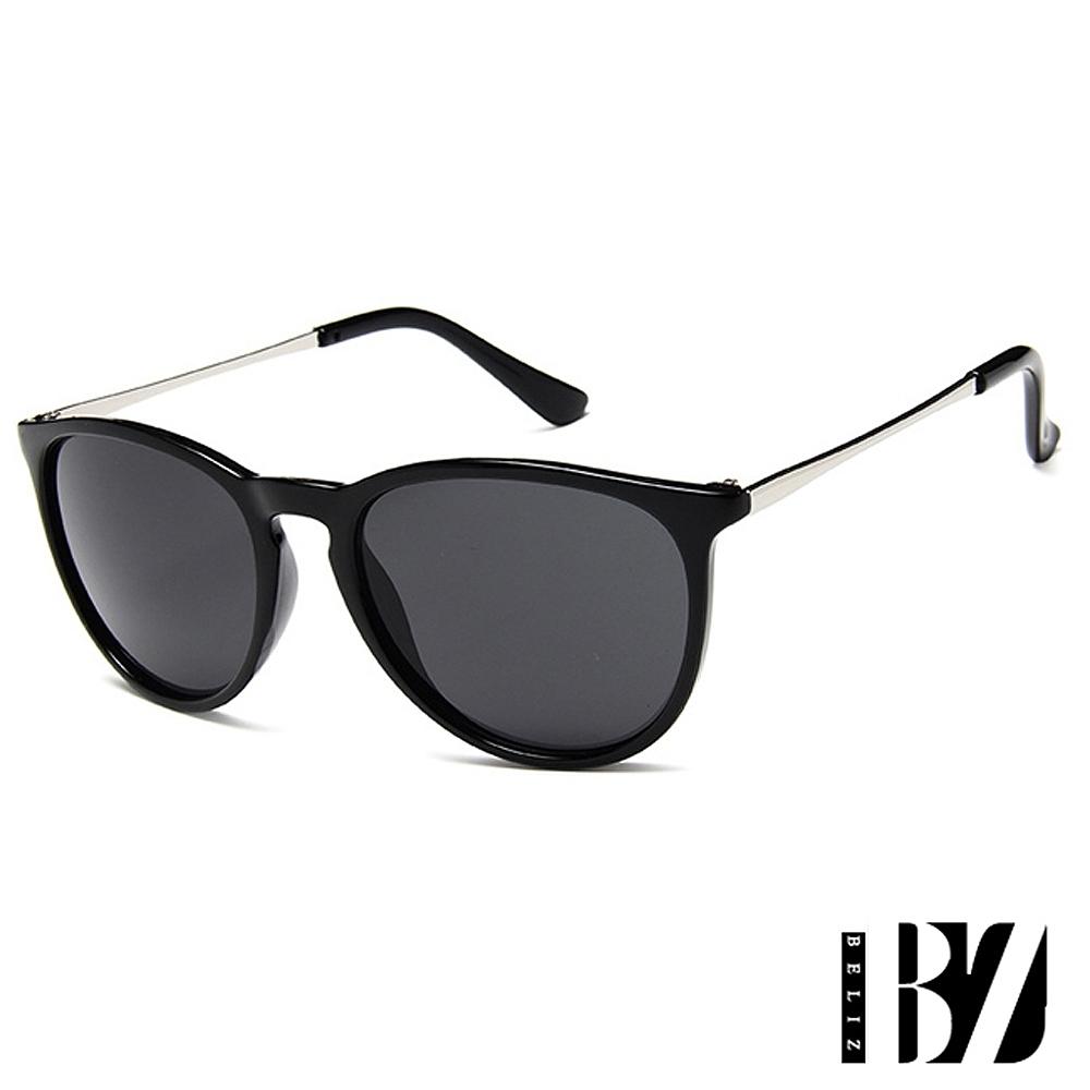 BeLiz 搶眼個性 時尚透視膠框墨鏡 全黑