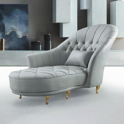 AS-歐倫灰色沙發貴妃椅-90×106cm(隨機抱枕×1)