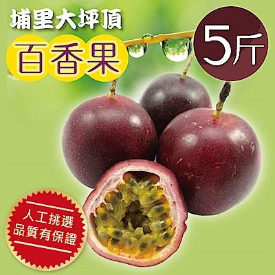 家購網嚴選 南投埔里百香果5斤(約43-50顆)