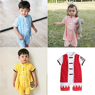 baby童衣 造型服 假兩件式中國結前開連身衣 80094