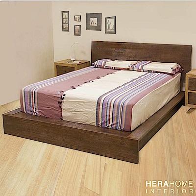 HERA Mattress 實木風化床架 雙人加大6尺 (深色)