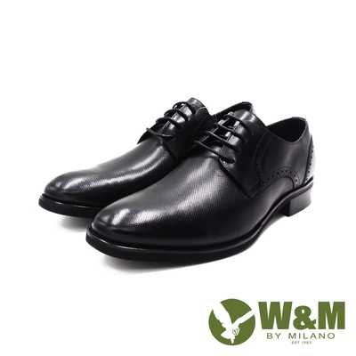 W&M(男)荔枝壓紋紳士皮鞋 男鞋-黑(另有刷染棕)