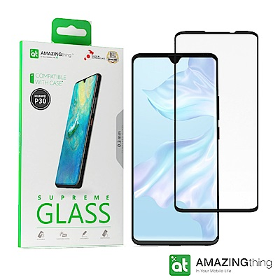 AMAZINGthing 華為 P30 滿版強化玻璃保護貼