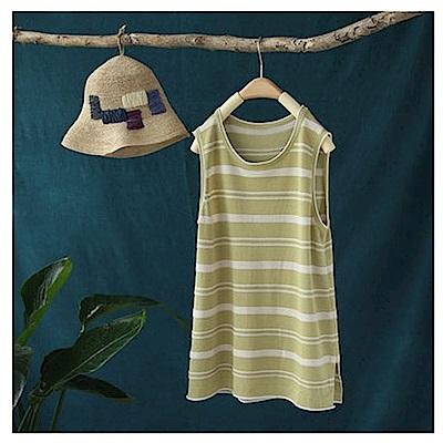 寬鬆針織衫條紋吊帶背心無袖內搭上衣-設計所在