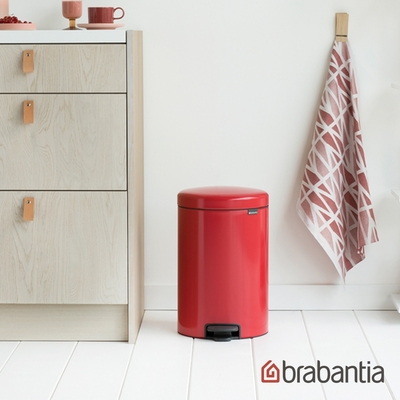【Brabantia】NEWICON環保垃圾桶-熱情紅-20L(新品上市)