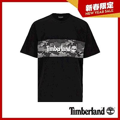 Timberland 男款黑色品牌圖案短袖T恤|A1XRM