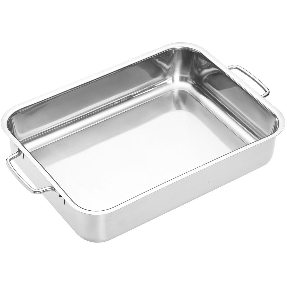 《Master》雙柄不鏽鋼長形深烤盤(32cm)