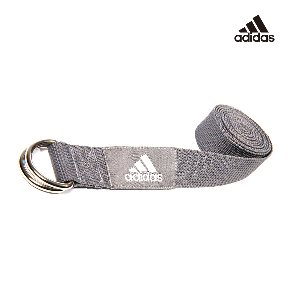 Adidas Yoga 編織棉質瑜珈伸展帶(灰)
