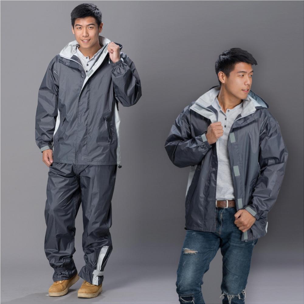 【東伸 DongShen】都會騎士輕量型二件式雨衣-鐵灰色 @ Y!購物