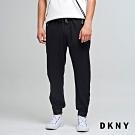 DKNY 男款 休閒運動風抽繩縮口褲 黑