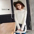 東京著衣 優雅百搭編織設計針織長版毛衣