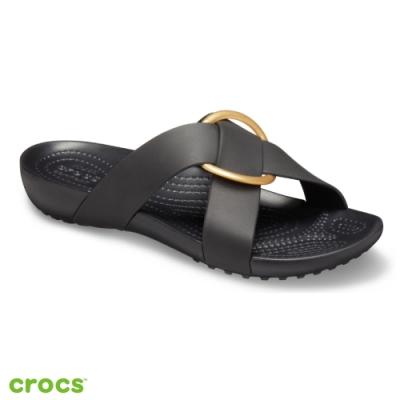 Crocs卡駱馳 (女鞋) 瑟琳娜花漾女士横帶涼拖 206099-001