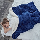 BUHO 文青感質純色法蘭絨/羊羔絨雙層暖絨毯(150x200cm)-多款任選
