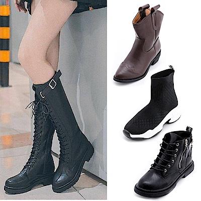[時時樂限定]River&Moon韓系精選中性靴款均一價538