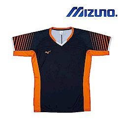 MIZUNO 美津濃 男女短袖排球T恤 藍橘 V2TA8G1813