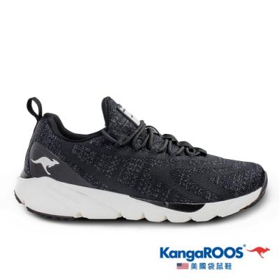KangaROOS 美國袋鼠鞋 男 RIPPLE 超輕量慢跑鞋(黑-KM01090)
