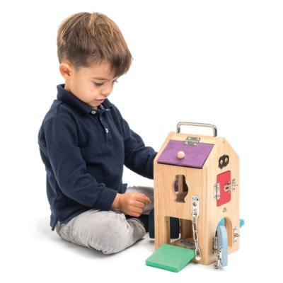 Tender Leaf Toys木製玩具-小怪物益智解鎖箱玩具