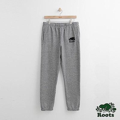 Roots 男裝-經典棉質長褲-灰