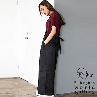 E hyphen 後腰綁帶造型連身吊帶褲