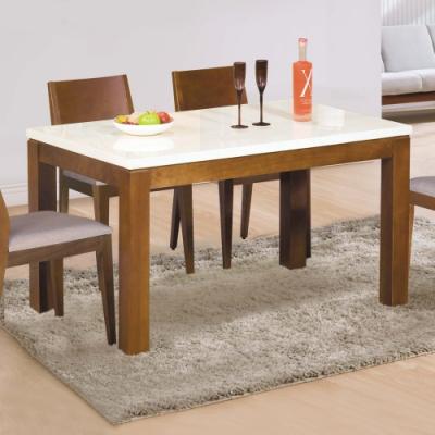 Boden-文森4.3尺石面實木餐桌(柚木色)-130x80x76cm
