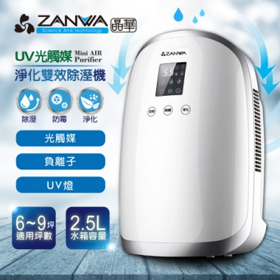 ZANWA晶華 UV光觸媒空氣淨化雙效清淨除濕機 ZW-033TS