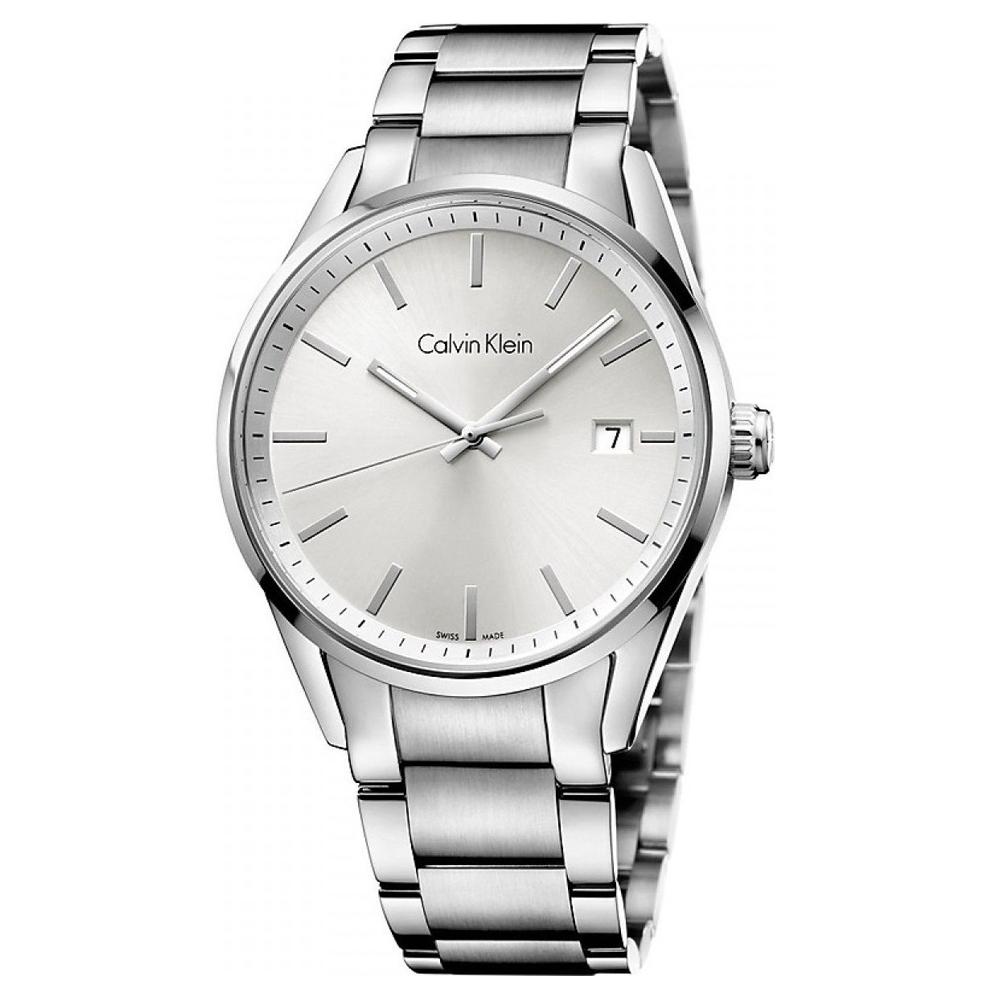 cK Formality系列 時尚紳士三針腕錶(白) 43mm K4M21146
