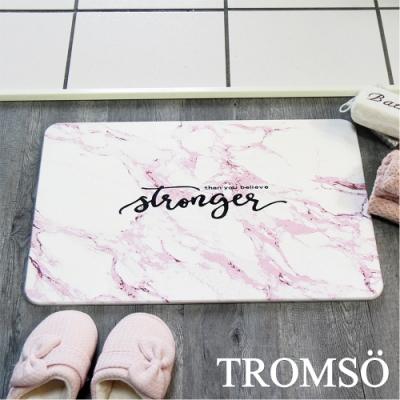 TROMSO珪藻土厚實吸水地墊-粉彩大理石