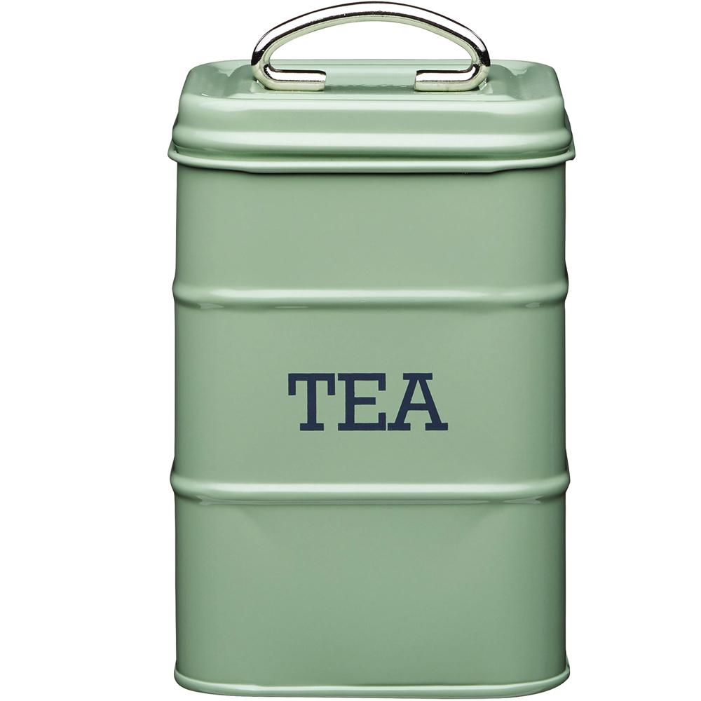 《KitchenCraft》復古茶葉收納罐(綠1300ml)